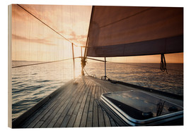 Hout print  Sailing away