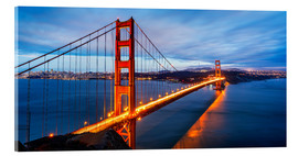 Acrylglas print  Golden Gate Bridge in San Francisco