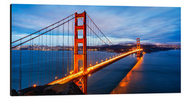 Aluminium print  Golden Gate Bridge in San Francisco
