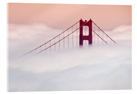 Acrylglas print  Golden Gate Bridge in the clouds