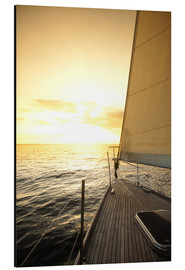 Aluminium print  Sailboat in the open sea