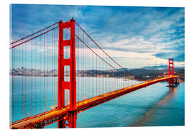 Acrylglas print  The Golden Gate