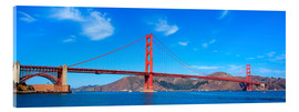 Acrylglas print  panoramic view of Golden Gate Bridge