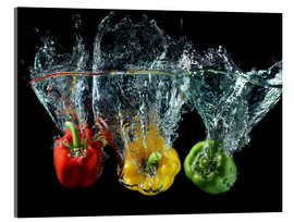 Acrylglas print  Peppers splash