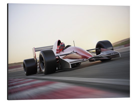 Aluminium print  F1 racing car in motion