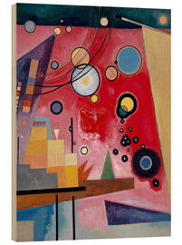 Hout print  Heavy red - Wassily Kandinsky