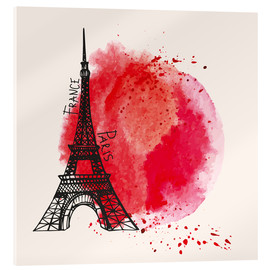 Acrylglas print  Paris splash
