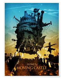 Premium poster  Howl's Moving Castle - Albert Cagnef