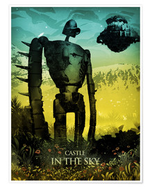 Premium poster  Castle in the sky (Luchtkasteel Laputa) - Albert Cagnef