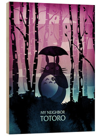 Hout print  My neighbor Totoro - Albert Cagnef