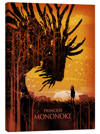 Canvas print  Prinses Mononoke - Albert Cagnef