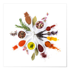 Premium poster Spice and herb'clock