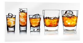 Acrylglas print  alcoholic drinks with natural ice