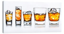 Canvas print  alcoholic drinks with natural ice