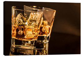 Canvas print  Whisky glasses