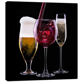 Canvas print  drinks - beer, wine and champagne
