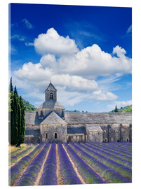 Acrylglas print  Sénanque abbey with lavender field, Provence, France