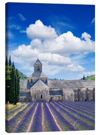 Canvas print  Sénanque abbey with lavender field, Provence, France