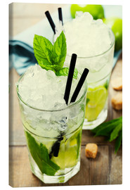 Canvas print  Mojito cocktail with ingredients