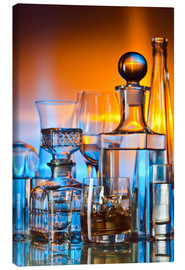 Canvas print  alcoholic drinks on glass table
