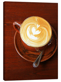 Canvas print  Cappuccino with heart shape