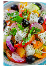 Acrylglas print  greek salad