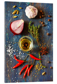 Acrylglas print  Spices and Herbs