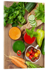Acrylglas print  Fresh vegetable smoothie