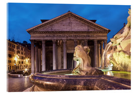 Acrylglas print  Pantheon at twilight, Rome, Italy - Circumnavigation