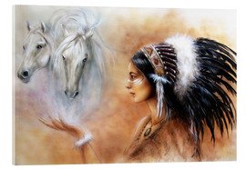 Acrylglas print  American Indian with horses