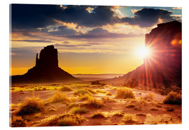 Acrylglas print  Zonsondergang in Monument Valley, VS