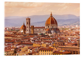 Acrylglas print  Florence Cathedral in evening light