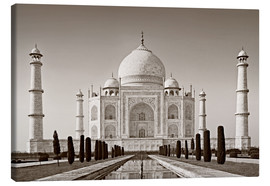 Canvas print  Taj Mahal in sunrise light