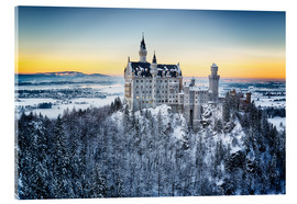 Acrylglas print  Neuschwanstein in the snow