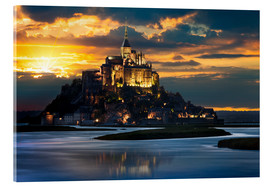 Acrylglas print  Mount Saint-Michel at sunset