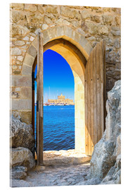 Acrylglas print  open door in old fortress
