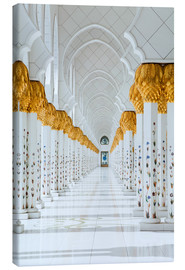 Canvas print  Detail of Sheikh Zayed Mosque