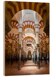 Hout print  Great Mosque of Cordoba - La Mezquita