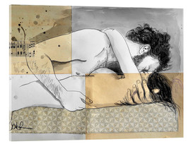 Acrylglas print  lovers on a patterned mattress - Loui Jover