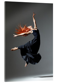 Acrylglas print  Dancer with red hair