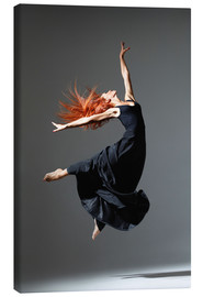 Canvas print  Dancer with red hair