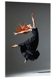 PVC print  Dancer with red hair