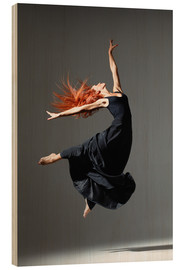Hout print  Dancer with red hair