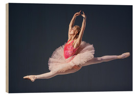 Hout print  pink tutu and pointe shoes