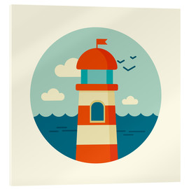 Acrylglas print  Lighthouse in a circle - Kidz Collection
