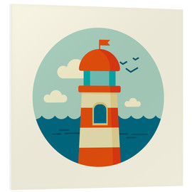 PVC print  Lighthouse in a circle - Kidz Collection