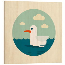 Hout print  Gull - Kidz Collection