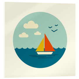Acrylglas print  Little sailboat - Kidz Collection