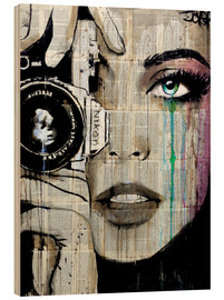 Hout print  Through her eyes - Loui Jover