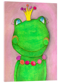 Acrylglas print  The frog queen and the colorful crown - Atelier BuntePunkt